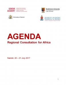 Cover page of the agenda
