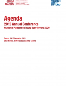 Cover of the Report of the 2015 Global Conference