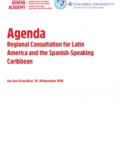 Cover of the Agenda of the Regional Consultation for Latin America and the Spanish-Speaking Carribean