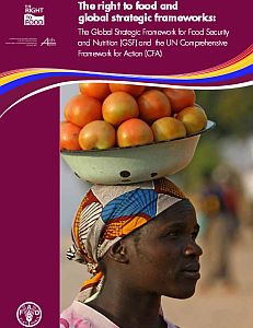 Cover of The Right to Food and Global Strategic Frameworks: The Global Strategic Framework for Food Security and Nutrition (GSF) and the UN Comprehensive Framework of Action