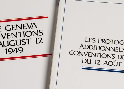 Coverpage of the Geneva Conventions and their Additional Protocols