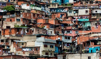Picture on the cover of the book of a favela
