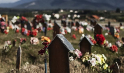 Kosovo, Mejë/Meja. A 'Field of Tears' cemetery and memorial site represents the event during which, the biggest number of persons disappeared in Kosovo.