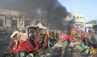 Somalia, explosion of a bomb in the Mogadishu's market place.
