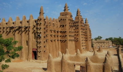 Mali, view of Djenné Great Mosque