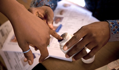 Democratic Republic of the Congo, RC Kinshasa. 28 November 2011. Elections Day, Voting Day and Ballots counting.