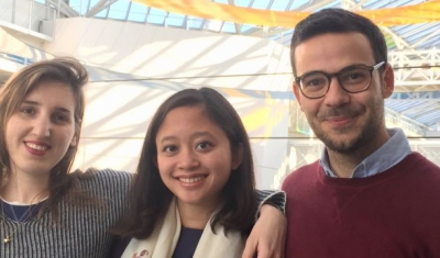 Three members of the Geneva Academy Team for the 30th Edition of the Jean-Pictet Competition