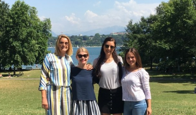 The Geneva Academy team in fron of the Villa Moynier