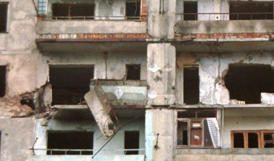 Destroyed Building during the 2008 War