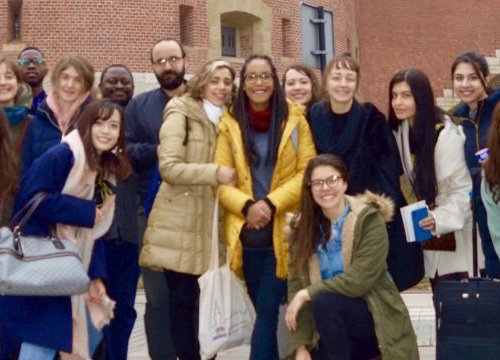 Group photo of MTJ students during their study trip to Poland