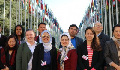 Participants in the training at the Palais des Nations