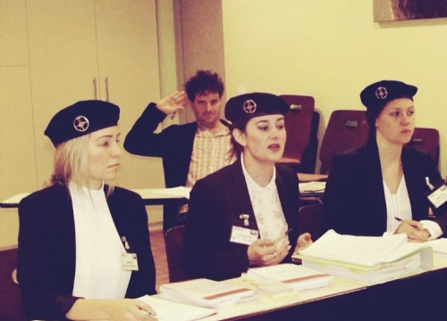 Picture of Sarah Gale, Annelies Nachtergaele and Clementine Rendle at the Jean Pictet Competition