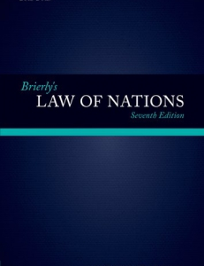 Cover of the book Brierly's Law of Nations