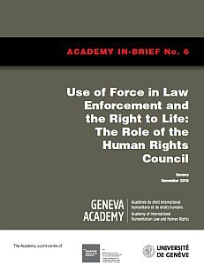 Cover of the In-Brief N.° 6: Enforcement and the Right to Life: The Role of the Human Rights Council