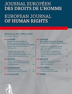 Cover of European Journal of Human Rights