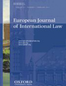 Cover of European Journal of International Law