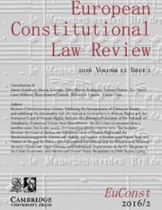 Cover of the European Constitutional Law Review