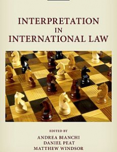 Cover of the book Interpretation in International Law