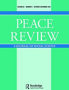 Cover of thwe Peace Review