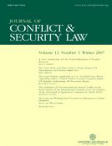 Cover of Journal of Conflict and Security Law