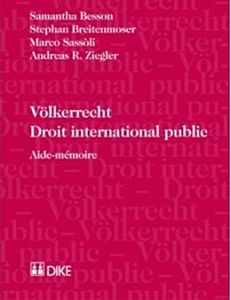 Cover of the book Völkerrecht/Droit international public, Aide-mémoire, 2nd ed