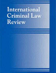 Cover of International Criminal Law Review