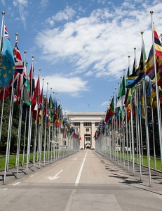 Introduction: Anthropology, Human Rights, and Three (Miniature) Generations by Miia Halme-Tuomisaari and Joshua Clark 8_unitednationsflagsgeneva  Flags of member states along the walkway up to the United Nations Office in Geneva
