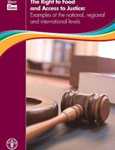 Cover of The Right to Food and Access to Justice: Examples at the National, Regional and International Levels