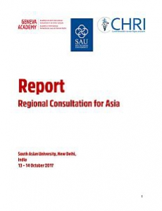 Cover of the Report or the Regional Consultation for Asia
