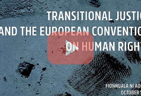 Launch: Transitional Justice and the European Convention on Human Rights